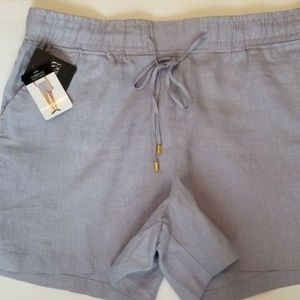 NEW Company Ellen Tracy Women's Linen Shorts XL